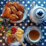 Ostepuffer med te