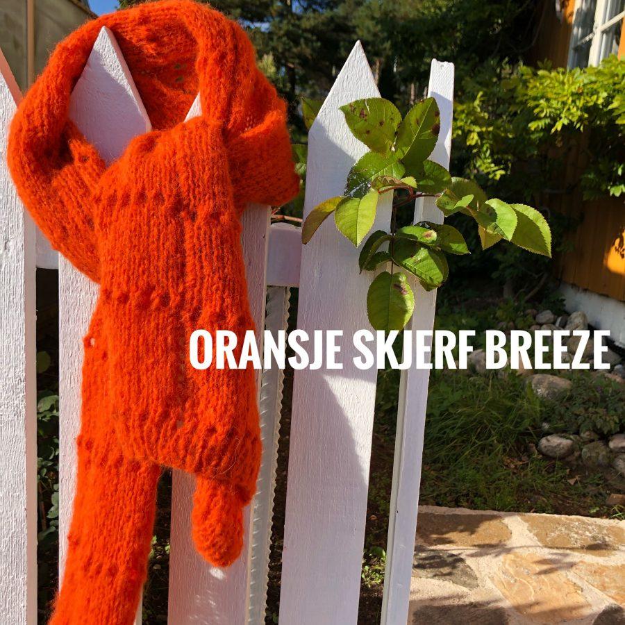 Oransje skjerf breeze